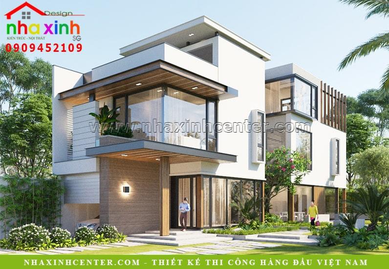 Biệt thự hiện đại 3 tầng mái bằng nhà chị Vân | Tân Phú