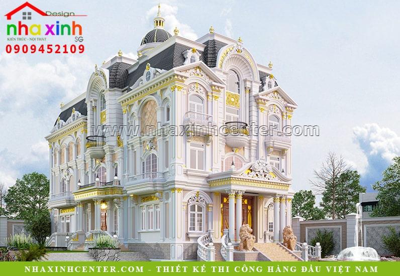 Biệt thự cổ điển 3 tầng đẹp