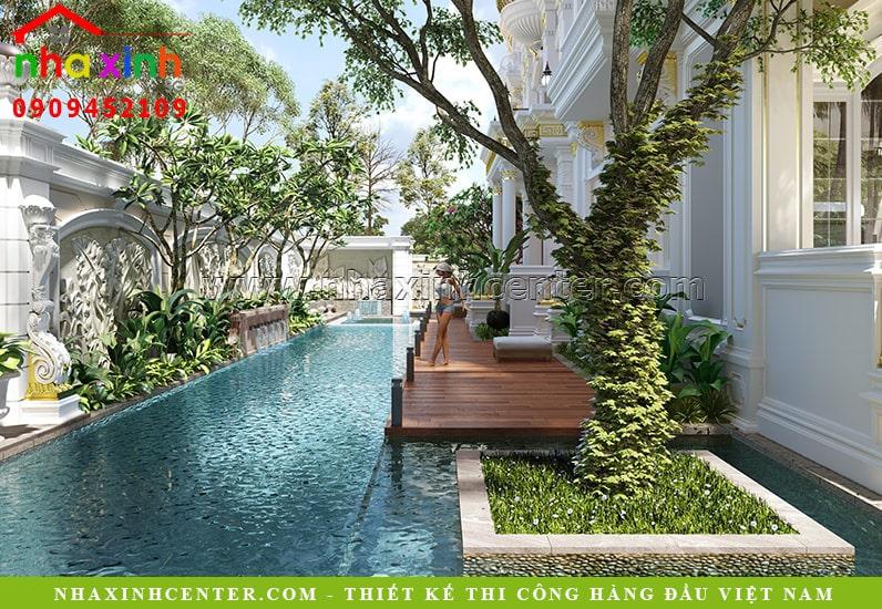 Thiết kế sân vườn với không gian xanh mát