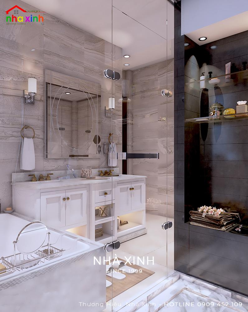 Mẫu phòng tắm đẹp biệt thự có bồn tắm xinh