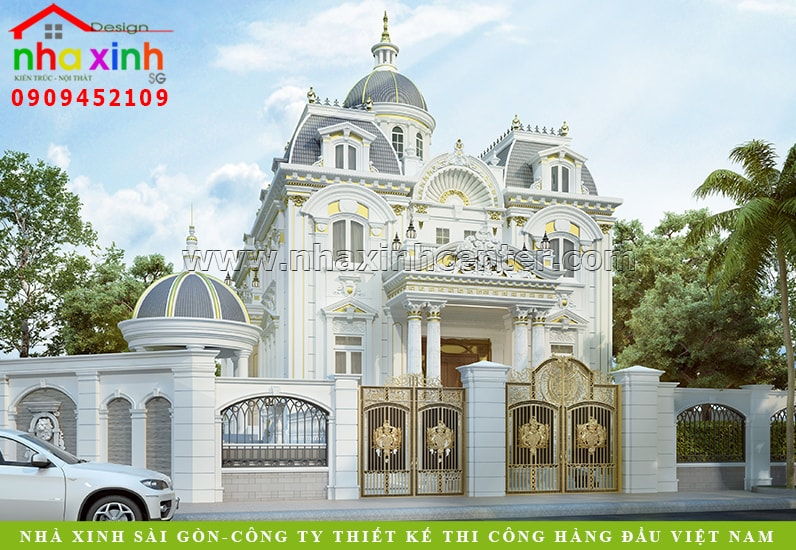 Mẫu biệt thự đẹp phong cách cổ điển