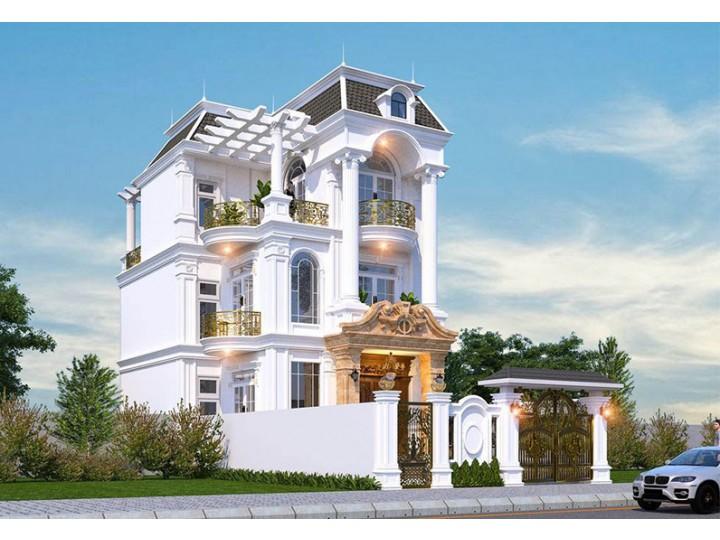 Mẫu Nhà Biệt Thự 3 Tầng Tân Cổ Điển Nên Tham Khảo