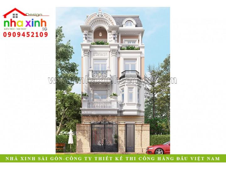 Thiết Kế Nhà Phố Giả Biệt Thự | Bác Khu | Phú Nhuận | NP-177