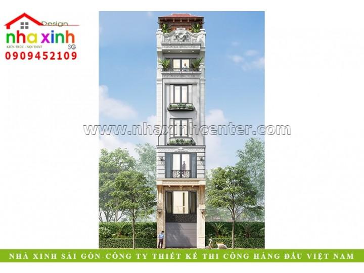 Nhà Phố Tân Cổ Điển 5 Tầng | Anh Quảng | Hà Nội | NP-211